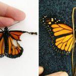 Я решила спасти бабочку и пришить ей новое крылышко. Вот что из этого получилось