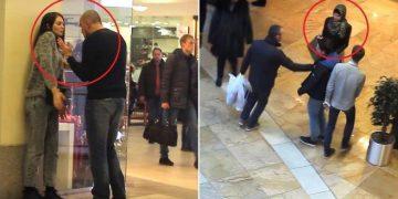 Вначале парень пытался ударить русскую девушку, а после мусульманку. Реакцию людей не передать словами…