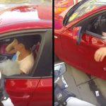 Она выбросила бутылку из окна автомобиля. Судьба быстро преподала нахалке урок!