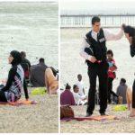 Необычная реакция британцев на полицейского, который применил силу к мусульманке на пляже