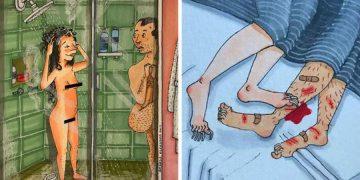 10+ жестких иллюстраций, показывающих скрытую сторону долгосрочных отношений