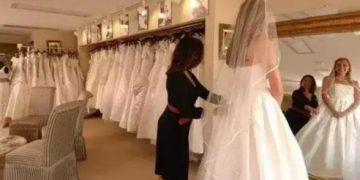 Мать с дочкой насмехались над полной девушкой, примеряющей свадебное платье. Ответ владелицы магазина ошеломил всех!
