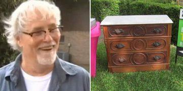 Пенсионер покупает на распродаже 125-летний комод: при погрузке комода для дальнейшей транспортировки, он услышал странный шум.