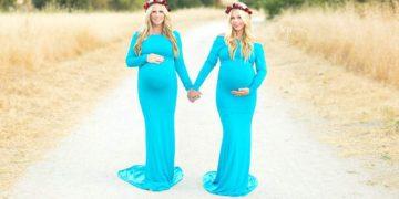Сестры близнецы стали одновременно мамами и их доченьки похожи как две капли воды! Фантастика!