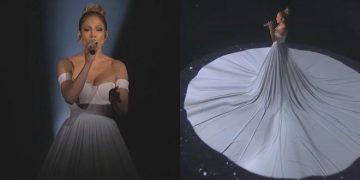 Дженнифер Лопес заворожила всех своим номером с «живым» платьем. Красота неописуемая!