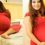 23-летняя Александра думала, что вынашивает близнецов, но, когда врачи показали ей результаты УЗИ, она расплакалась