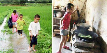 Мать бросила детей, а папа умер, тогда эта маленькая девочка заменила родителей. Маленькая героиня!