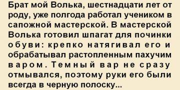 Теплый рассказ. Я обещал тебе сапожки. Старшему брату Владимиру посвящается. Брат мой Волька