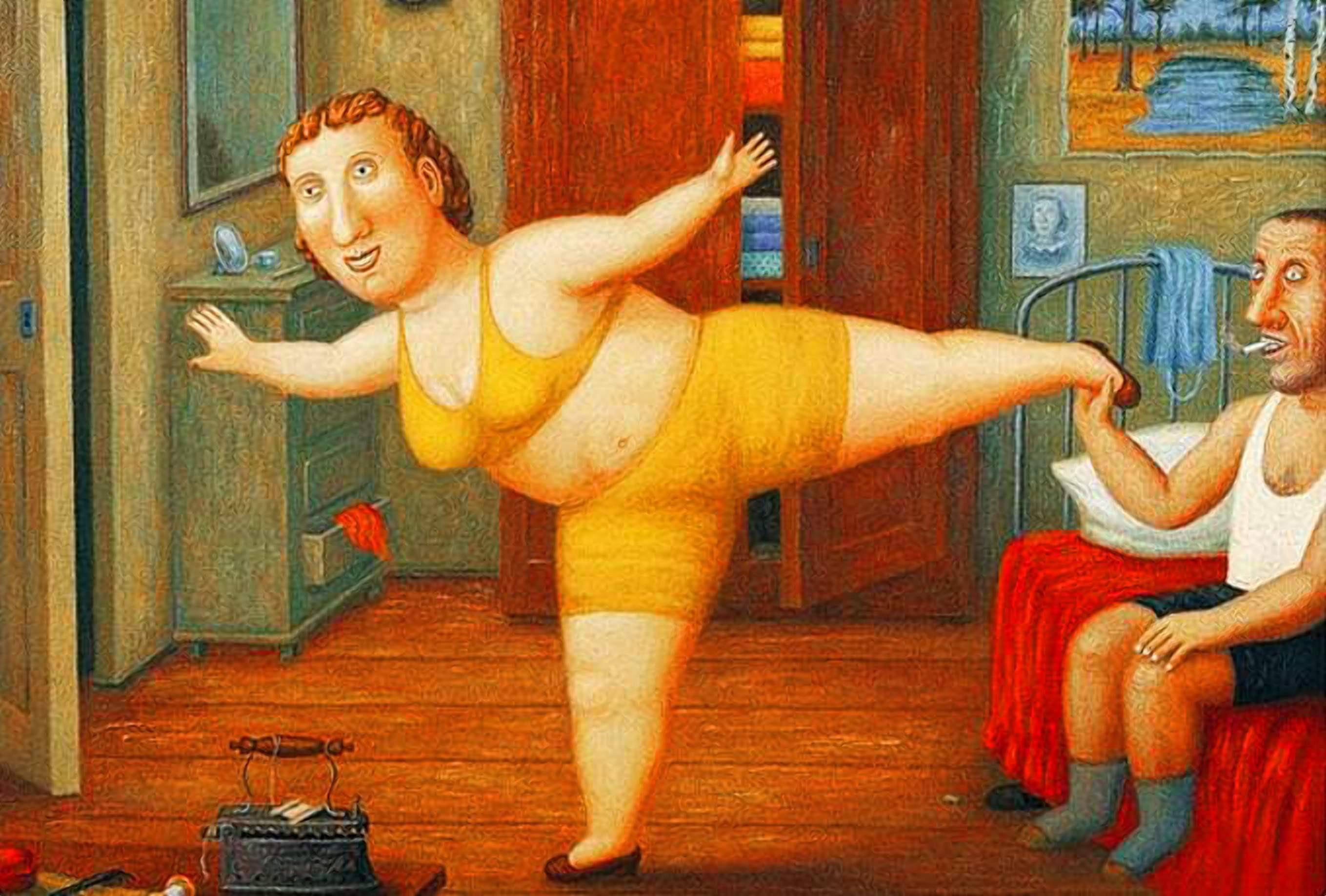 Пошаговые рисунки, картинки с толстыми женщинами и приколы к ним
