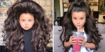 Эта малышка продолжает покорять всех вокруг своими роскошными волосами