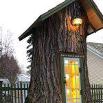 110-летнее засохшее дерево она превратила в библиотеку для соседского мальчика! Сказка…