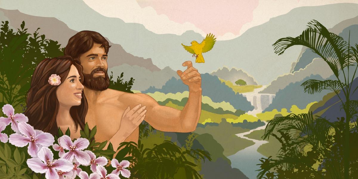 Картинка, адам и ева в картинках